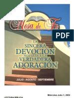 Mesa de Fe 2009- julio agosto septiembre