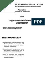 Clase 5 Algoritmos de Busqueda y Clasificacion