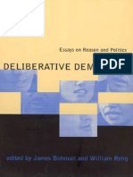 59293283 34385875 Deliberative Democracy Essays on Reason and Politics