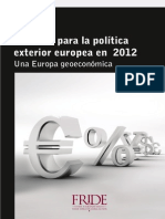 Challenges for European Foreign Policy in 2012 Esp