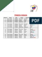 Calendario Oficial TEMPORADA 2013-2014