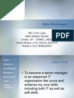 Nitin Bhatnagar Digital Portfolio