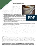 Noveling Assignment Series