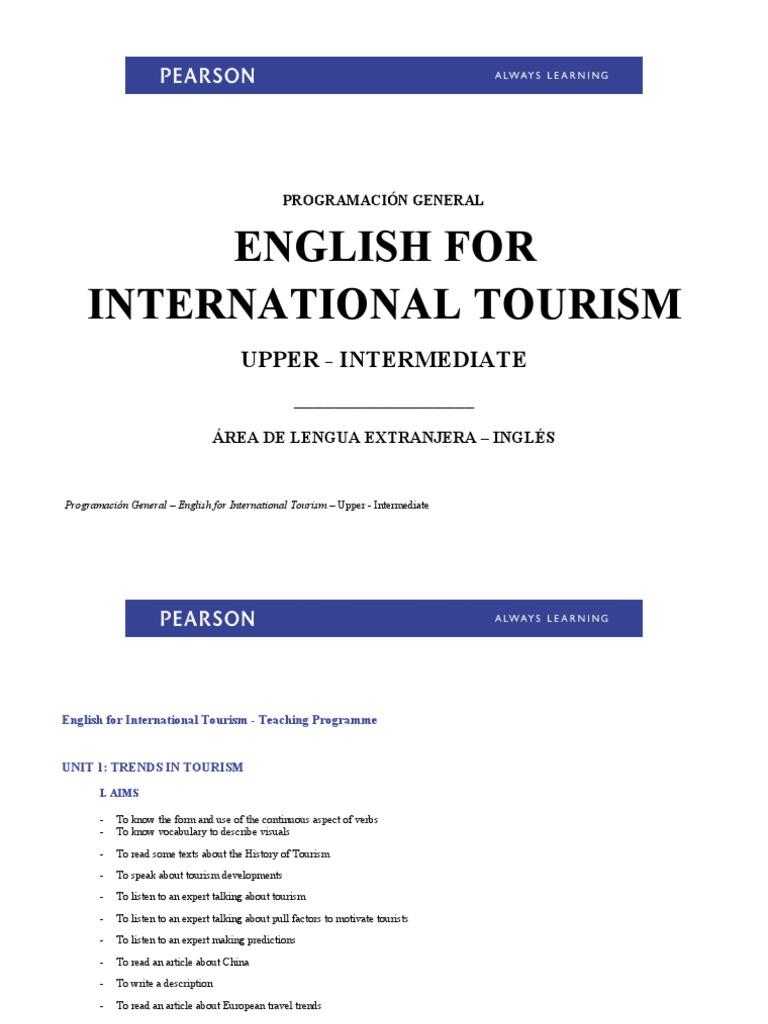 English For International Tourism Upper Intermediate Teachers Book