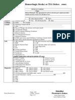 WakeMed Non-Hemorrhagic Stroke-TIA Admission Orders Rev 12-07i