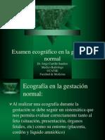 Examen Ecografico en La Gestacion Normal