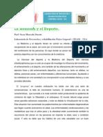 La Medicina y El Deporte Articulo.