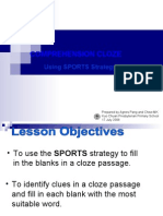 Using SPORTS for Comprehension Cloze
