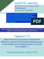 Assessment for Learning 2