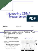 Interpreting CDMA Measurements