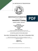 Soil Association Certified Organic Licence