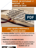 La Importancia de Meditar La Biblia x Ismael