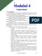 Modulul 4 - Calcul tabetar