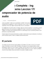 Amplificador de potencia de audio » Electrónica completa