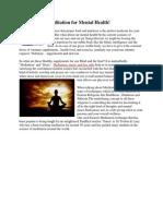 Meditation for Mental Health!.docx