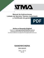 Manual Atma SM8900E
