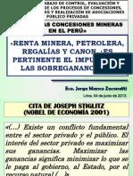 Renta Minera, Petrolera, Regalías y Canon