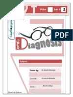 oral diagnosis  2nd Script
