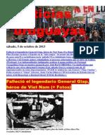 Noticias Uruguayas sábado 5 de octubre del 2013