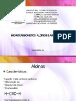 ALCINOS E AROMÁTICOS