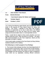 Brennan Report on Town of New Windsor SEWAGE Oct. 2, 2013