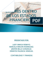 Errores Dentro de Los Estados Financieros (1)