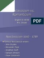 Neoclassicism vs Romanticism