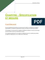 Chapitre Spefications Et Mesure