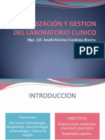 ORGANIZACIÓN Y GESTION DEL LABORATORIO CLINICO
