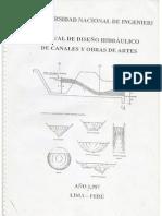 manual de diseño hidraulico de canales y obras de arte
