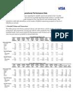 Visa Inc. 2013 Operational Performance Data