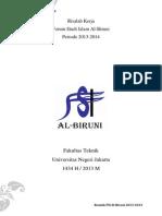 Risalah Kerja Forum Studi Islam Al-Biruni Periode 2013-2014