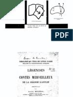 Moulieras, Auguste - 1893 - Legendes Et Contes Merveilleux de La Grande Kabylie (Texte Kabyle) [B