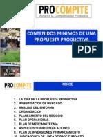 Contenidos Minimos de Una Propuesta Productiva