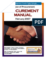 MCPS Procurement Manual as published Feb 2007