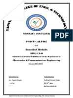 Numerical Methods Practical Flle_MDU