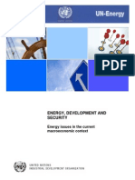 Energy Development and Security