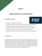 UNIDAD 1 - Generalidades de Los Presupuestos
