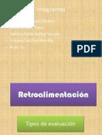 Retroalimentación tipos de Evaluación