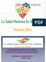 CONSEJERÍA DE NUTRICION