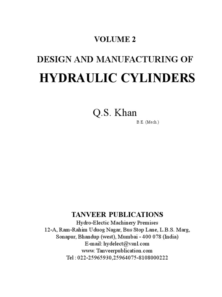 Volume-2  Design and Manufacturing of Hydraulic Cylinders