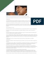 Notable e irónica intervención de Evo Morales ante los Jefes de Estado de la CEE