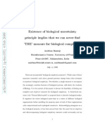 Biological Uncertainty Principle
