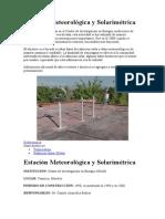 3.1 Estación Meteorológica y Solarimétrica