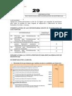 Dinámica de la cuenta 29 Provisión para desvalorización de existencias