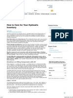 How to Care for Your Hydraulic Inventory
