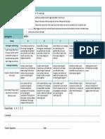 assessment criteria sheet