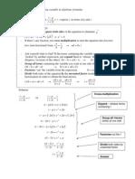 Solving algebraic formulae