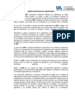 BUENAS PRÁCTICAS DE LABORATORIO