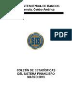 03 Boletín Mensual de Estadísticas Marzo 2013